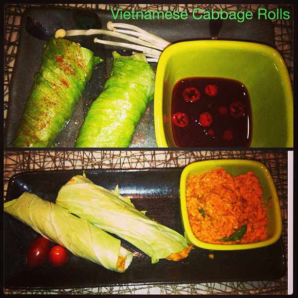 Vietnamese_Cabbage_Rolls_with_Enoki_shrooms_and_spicy_dipping_sauce_-_a_little_healthy_raw_snack_for_dinner___Recipe_inspired_from_book___Raw_Addiction___So_yummy___katrinaellis__rawfoods__raw__cute__food__beautiful__me__rawasian__cabbagerolls__raw__