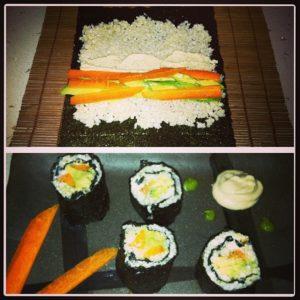 Cauliflower Sushi Raw Foods