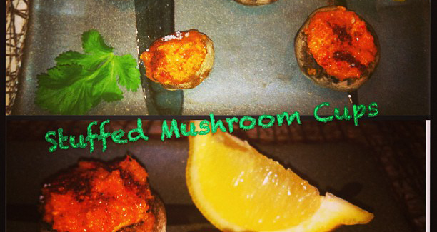 Stuffed Bell Pepper Mushroom Cups
